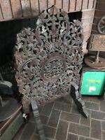 Asian Fireplace Screen--Antique