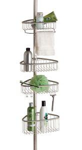 Corner Shower Caddy Non Rust Bathroom Telescopic Shelf Storage 4 Tier Organiser