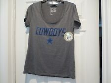NWT Dallas Cowboys Star Logo Ladies Jersey Shirt Her Style, Grey , Size M