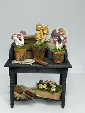 More details for dolls house 1/12th scale fully stocked witches toadstool growing potting table