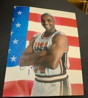 CHARLES BARKLEY SIGNED 8X10 PHOTO USA TEAM JORDAN SUNS W/COA+PROOF RARE WOW