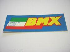 VECCHIO ADESIVO BICICLETTA / Old Sticker BMX FEDERAZIONE ITALIANA (cm 11 x 3,5)