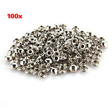 100 PCS 7 mm Round Metal Rivets for Gloves Belt LW