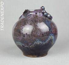 Colorful Vintage 60-70's WEST GERMAN STUDIO POTTERY Purple Vase Fat Lava Era
