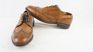 Allen Edmonds Ashland Brown Wingtip Mens Dress Shoes Size 11.5 EEE