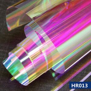 2rolls 30m Rainbow Window Film Dichroic PET Iridescent Glass sticker HOHOFILM