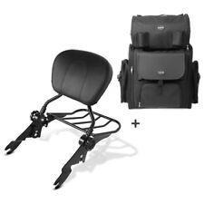 Sissybar sb1 + bolsa popa para Harley Electra Glide estándar 09-10 negro