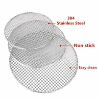1pc Round Barbecue BBQ Net Grill Meshes Racks Grid Grate Outdoor Stainless Steel