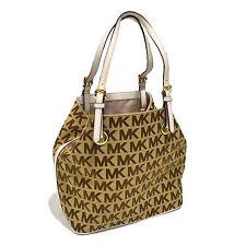 Michael Kors Handbag Jet Set Item Grab Bag 38s1xttt4j Mk Logo Canvas New