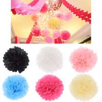 "5 Pcs Tissue Paper Pom Poms Flower Ball Wedding Party Birthday DIY Decor 8""/10"""