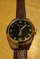 Vintage Sharp Diamond Unisex Watch, Running with new battery and Leather band H