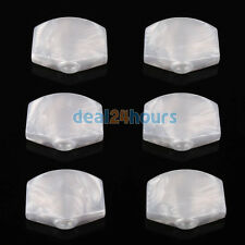 6 Pcs Guitar Tuner White Pearloid Acrylic Large Tuning Key buttons