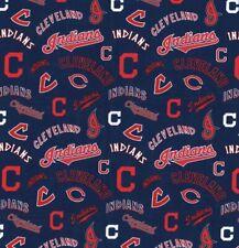 1 Yard MLB Cleveland Indians Cotton Fabric