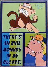 Family Guy Chris Griffin There's an Evil Monkey in My Closet Magnet ~ Licensed