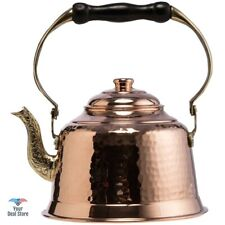 Copper Tea Kettle Teapot Stove Hot Water Boiler Stovetop Pot Thick Hammered New