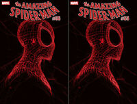 2x AMAZING SPIDER-MAN 55 LR RED variant 2nd print GLEASON MARVEL COMIC FEB 2021