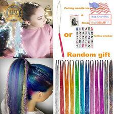 """UPTO 46""""Hair Tinsel with Tools 12 Colors 2000 Strands Hair Tinsel Kit Hair Dazzl"""