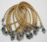 HOLY Hamsa Hand String Gold Evil Eye Lucky Spiritual Bracelet Success Protection