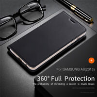 Leather Flip Wallet Magnetic Case Cover For Samsung Galaxy A8 2018 A3 A5 A7 2017