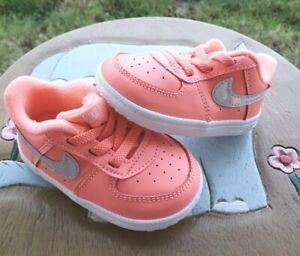 """Nike Air Force 1 """"Mango"""" Girls' BRAND NEW Toddler 4C"""