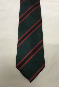 The Rifles Regiment Polyester Striped Tie, Army, Military, Present Regimental