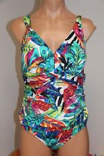 8b3da4b62f0 Ralph Lauren Plus Size 22w Rainforest Tropical Ruched Control 1 PC Swimsuit