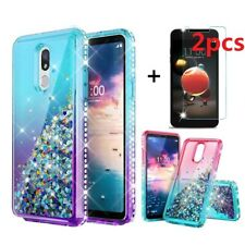 For LG Aristo 3/2 Plus/Rebel 4 LTE Shockproof Bling Phone Case +Screen Protector