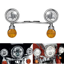 Set Passing Lights LED Turn Signal Light Bar Kit Fit Suzuki Kawasaki Harley