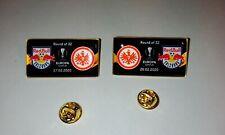 2 Fußball pin badges Eintracht Frankfurt Red Bull Salzburg 2019 2020