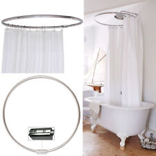 Chrome Round Shower Rail Hardened Aluminium Curved Bathroom Pole HomeCentre®