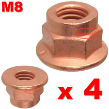 FORD KA EXHAUST MANIFOLD PIPE HEAD STUD NUT M8 LOCK NUTS HEX COPPER