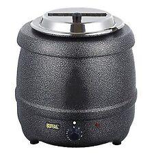 Buffalo Graphite Grey Soup Kettle 10l Commercial Electric Jug 375x330mm