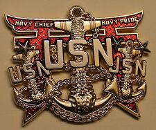 Okinawa Island Backbone of the Navy CPO Chiefs Mess Navy Challenge Coin