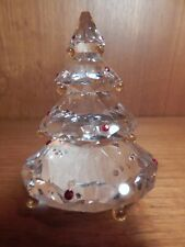 "Original Box SWAROVSKI Clear Crystal CHRISTMAS TREE 3 1/2""h Figurine #266945"