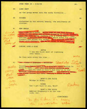 STAR TREK REPRO 1998 INSURRECTION SCRIPT PAGE - WITH HANDWRITTEN NOTES . NOT DVD