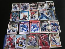 LOT OF 96 DIFFERENT AUTOGRAPHED GOALIE HOCKEY CARDS-NO DOUBLES