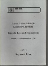 Philatelic Literature: Harry Hayes auction index to sold lots vol 2 - 1970s