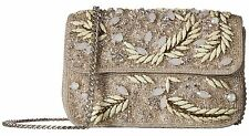 NWT Mary Frances Crystal Grotto Beaded Faux Leather Clutch Shoulder Bag