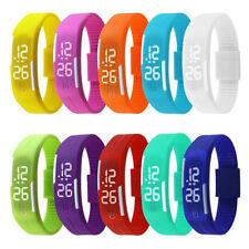 Touch Screen LED Digital Silicone Sport Wrist Watch Men Women Bracelet Watch NEW