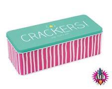 HAPPY Jackson CRACKER grandi LUNGHE DEEP RETTANGOLARE CRACKER Storage TIN BOX