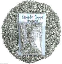 Silver Sugar Dragees 1mm (30g) Cake Decoration Sprinkles balls Cupcake Glitter