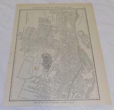 1911 Collier Map of MONTREAL, QUEBEC, CANADA