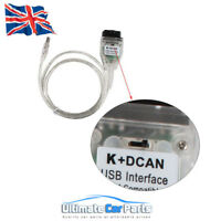 Diagnostic For BMW OBD2 Interface K+CAN K+DCAN OBD K Switched Scan Tool Cable UK
