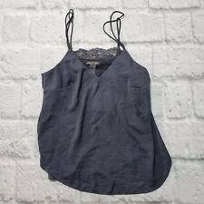 Women's H&M Sz 6 Blue Sleeveless Cami Tank Top Shirt