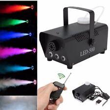 RGB LED Wireless Smoke Fog Machine 500W Stage DJ Disco Party Club Fogger Remote