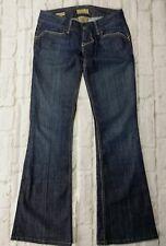 William Rast Jeans Womens Size 24 Blue Cotton Low Waist Belle Flare Leg Dark