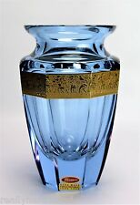 Crystal Moser Alexandrite Eternity Vase Signed Czech Glass