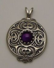 Battersea Shield Pendant .925 Sterling Silver Celtic La Tène w/ genuine amethyst