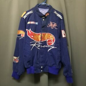 Vintage 90s Nascar Kyle Petty Hot Wheels Jacket Men LG Hypebeast Trap Streetwear