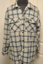 SWANNDRI WOOL NEW ZEALAND BLUE / GREY / OATMEAL CHECK SHIRT XL (XXXL - 111CM)